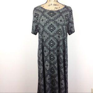 Lularoe Carley Print Dress XL